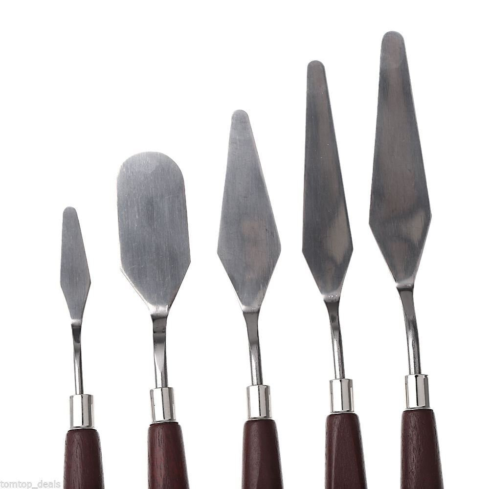 Asint Painting Knifes Of Various Size & Shapes Set Of 5-1243
