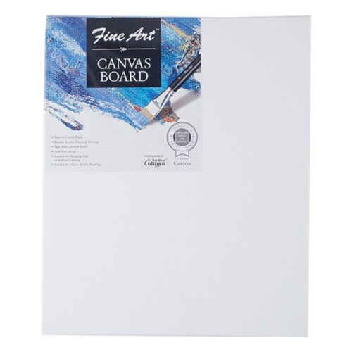 Fine Art White Canvas Board 15.24 cm X 20.32 cm Pack of 8-0