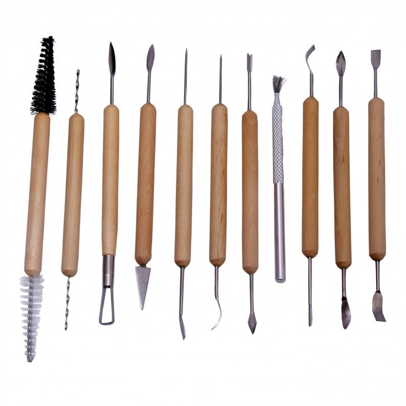 Asint 11Pc Ceramic Clay Tool Set-0
