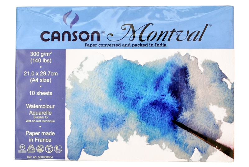 Canson Montval Water Colour Paper 300Gsm Cold Pressed A4 Size 14 Sheets-1253