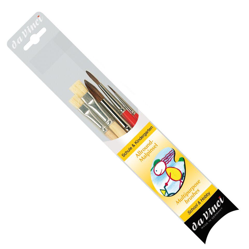 Da Vinci Multipurpose Brush Set Of 5 Series 4214 School & Hobby With Brush Box-0