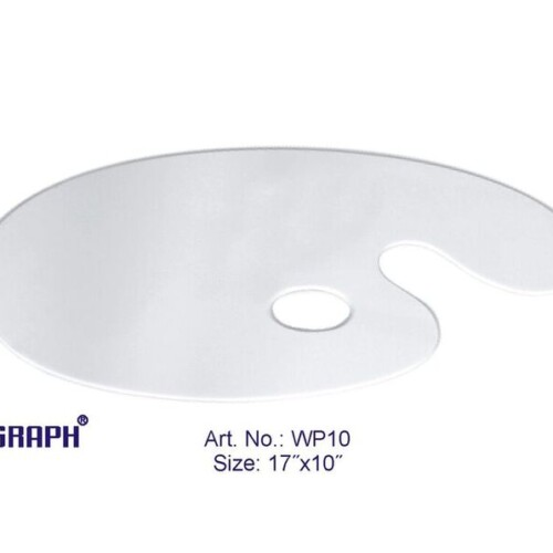 "Asint Wooden Palette Oval White (17"" X 10"")-0"