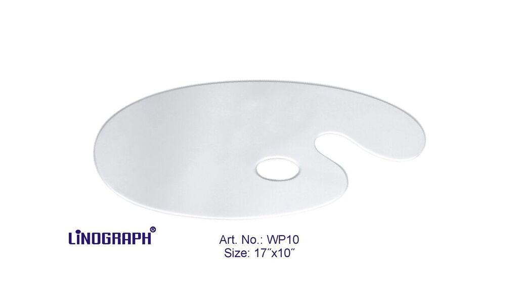 """Asint Wooden Palette Oval White (17"""" X 10"""")-0"""