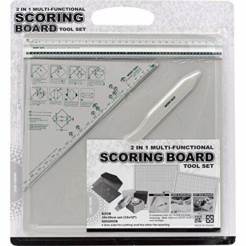 Morn Sun 2 In 1 Multi Functional Scoring Board E Tool Set For Envelope Making , Gift Box Making Size 12 X 12 Inch-0