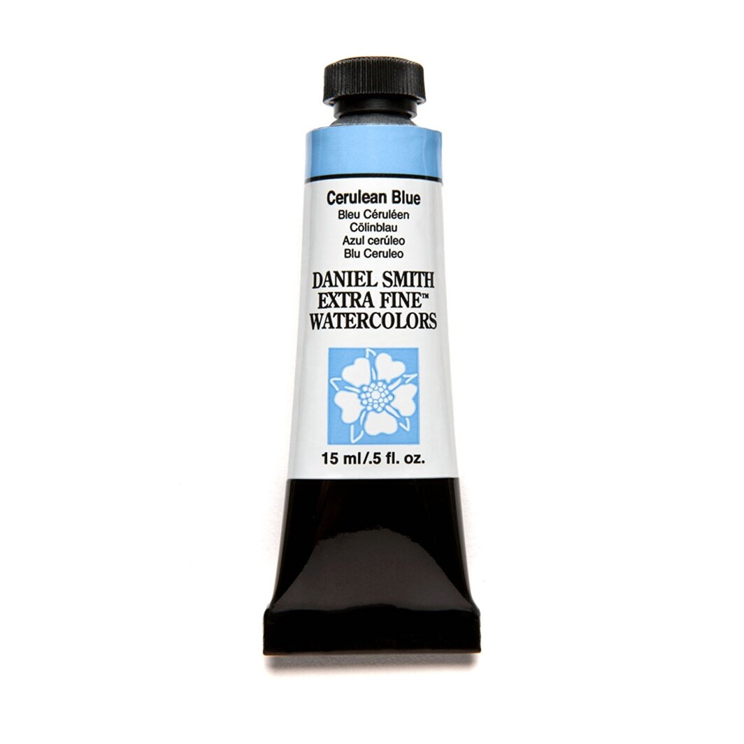 Daniel Smith original Watercolor 15ml Paint Tube, Cerulean Blue-0