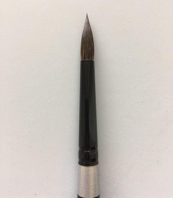 Silver Brush 3000S-4 Black Velvet Short Handle Blend Brush, Round, Size 4-0