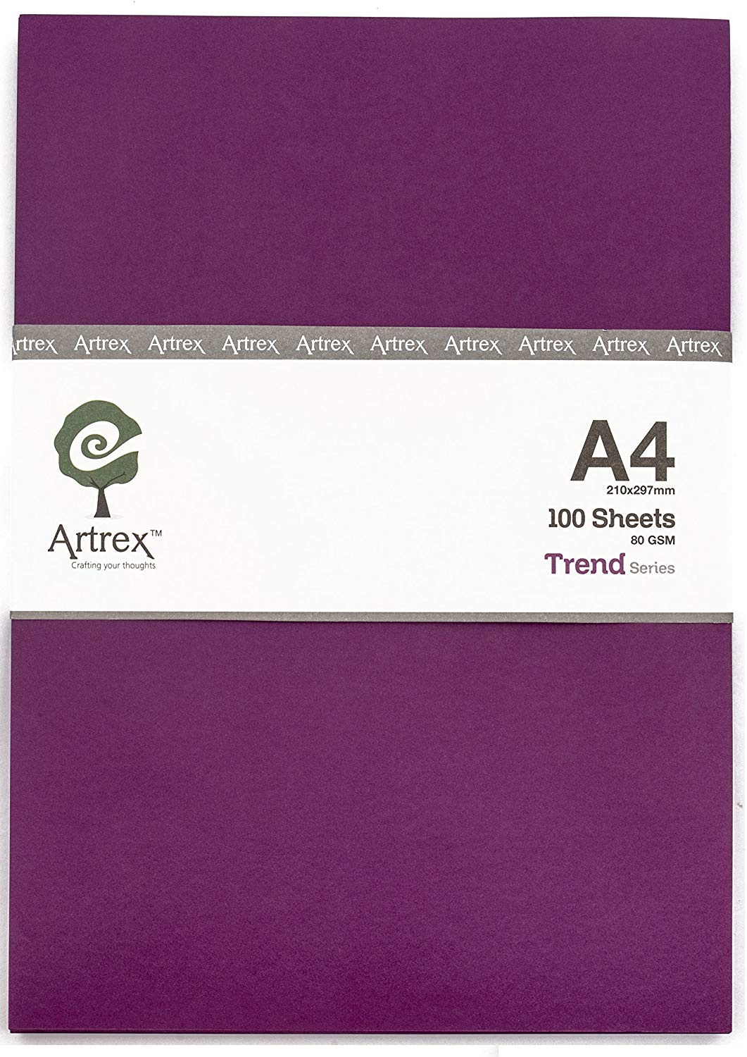 Artrex A4 Color Paper Trend 80 GSM RASBERRY (Pack of 100 Sheets)-0