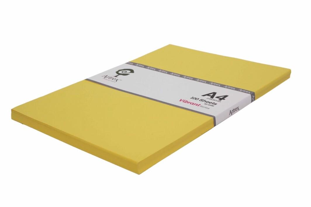 Artrex A4 Color Paper Lemon Vibrant Series 80 GSM (100 Sheets)-0