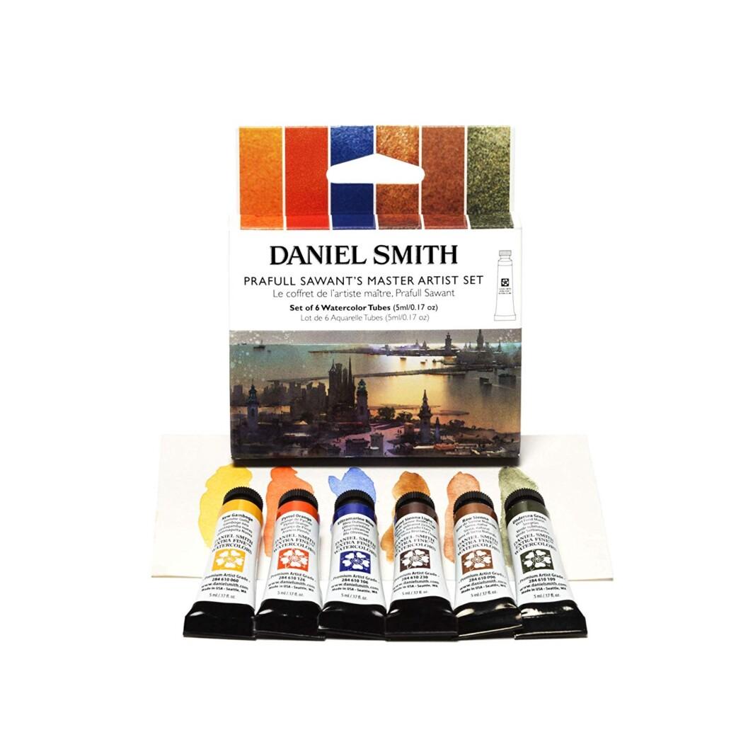 Daniel Smith 285610389 Extra Fine Prafull Sawant's Master Watercolor, 6 Tubes, 5ml Set-0