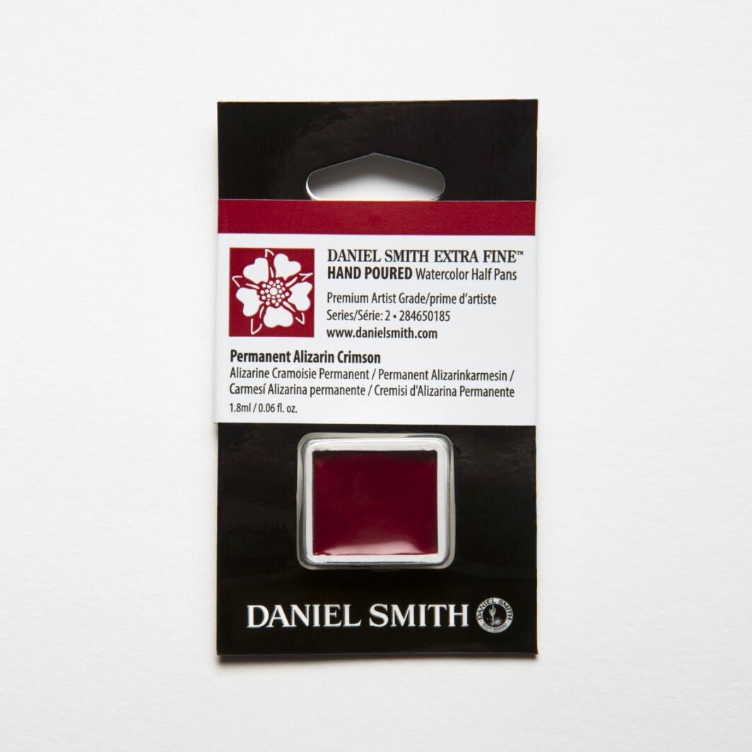 DANIEL SMITH Extra Fine Watercolor Permanent Alizarin Crimson Half Pan-0