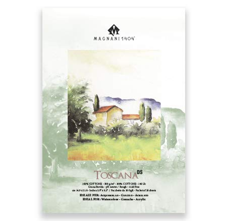 Magnani 1404 Toscana DS Watercolor Paper 300 GSM A4-100% Cotton Rough 5 + 1 Sheets Free-0
