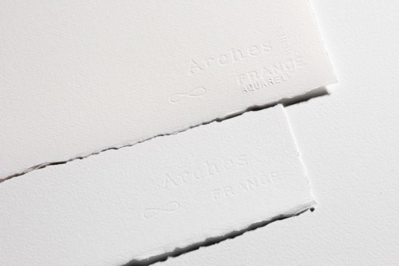 Arches Watercolour Paper Rough 300 GSM 56 X 76 CM ( Pack Of 10 ) Natural White-0