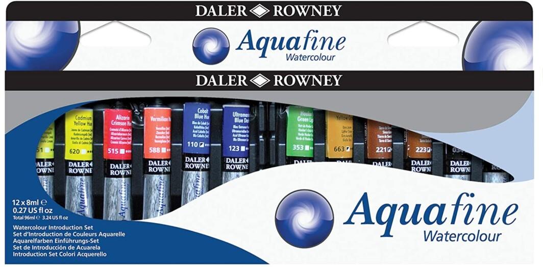 Daler Rowney Watercolour Introduction Set-12 x 8 mL Tubes-0