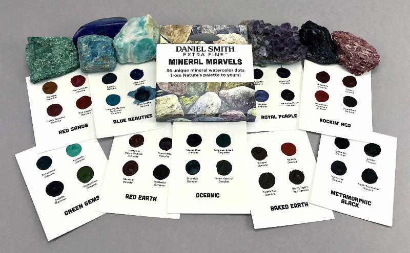 DANIEL SMITH Mineral Marvels Dot Card Set-7012