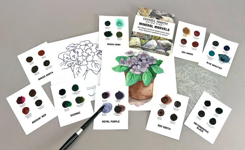 DANIEL SMITH Mineral Marvels Dot Card Set-7011