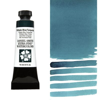 DANIEL SMITH Extra Fine Watercolor 15ml Paint Tube, Phthalo Blue Turquoise-0