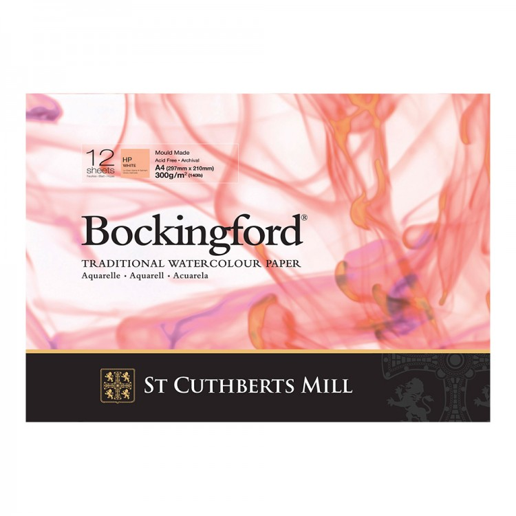 BOCKINGFORD GLUED PAD 8.2X11.8 IN A4 300GSM 12 SHEETS HOT PRESSED-0